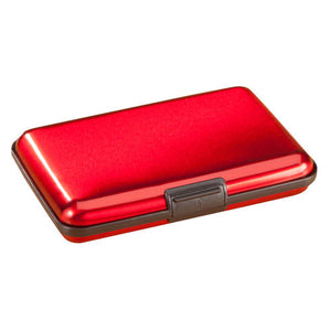 Aluminum Credit Card Holder-Red