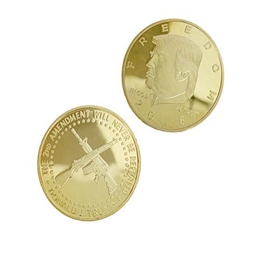 2018 Freedom Donald Trump 2nd Amendment Gold Plated Coin