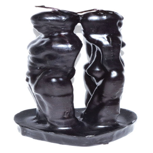 "6 1/2"" Black Separation candle"