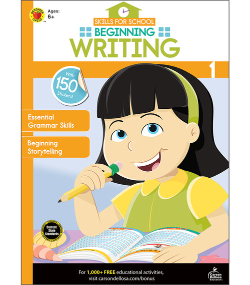 Beginning Writing Activity Book Grade 1 eBook