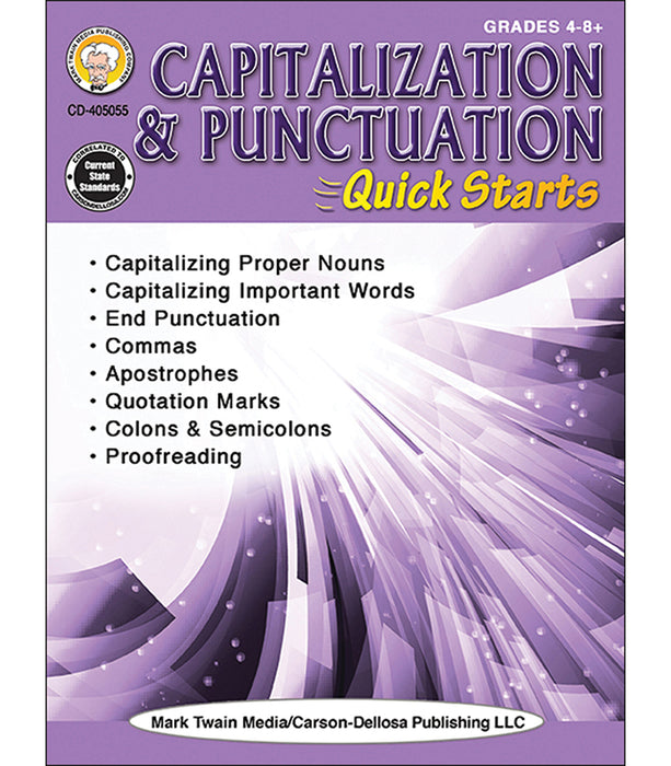 Capitalization & Punctuation Quick Starts Workbook Grade 4-12 eBook