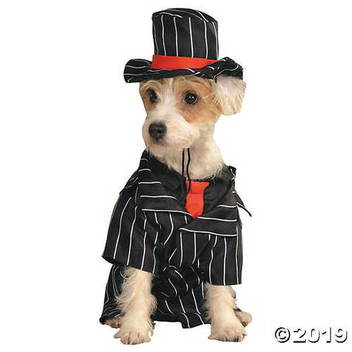 Gangster Mob Boss Dog Costume - Medium