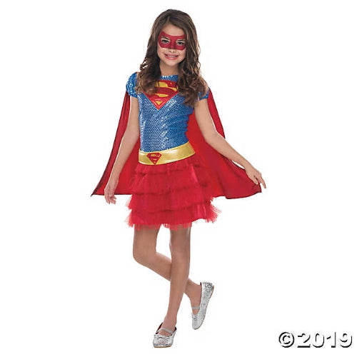 Girl's Tutu Dress Supergirl Costume - Small