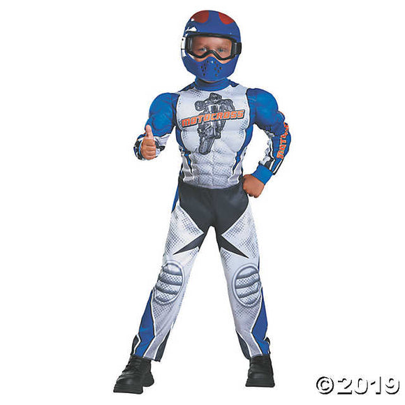 Kid's Muscle Motorcycle Rider Costume - Small