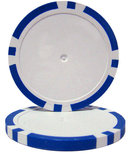 Blue Blank Poker Chips - 14 Gram