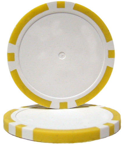 Yellow Blank Poker Chips - 14 Gram