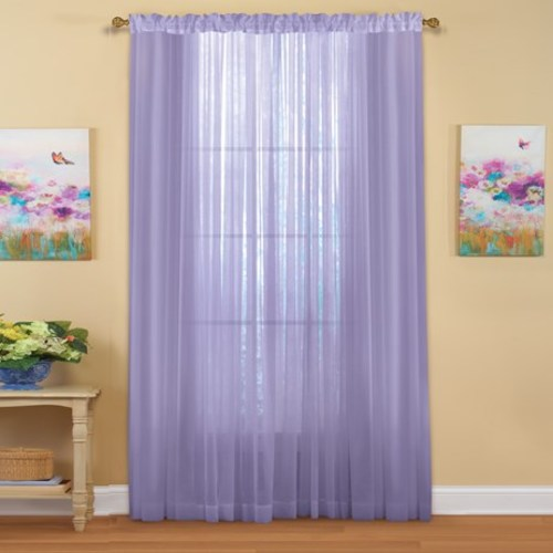 "Decorative Sheer Curtain Panel 59"" x 84"" Lilac"
