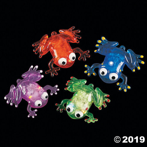 Flashing Squishy Frogs with Beads (1 dz)