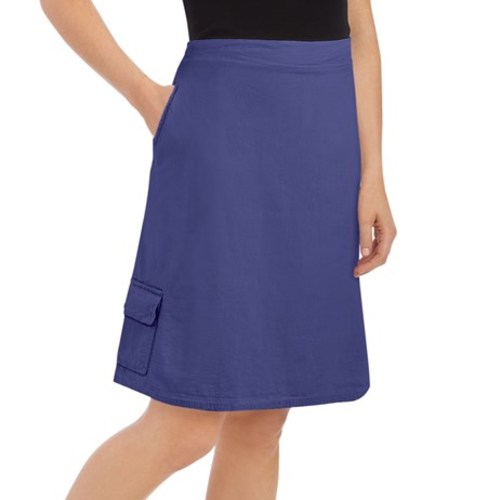 Women's Cargo Skort With Elasticized Waist, Royal Blue, XX-Large