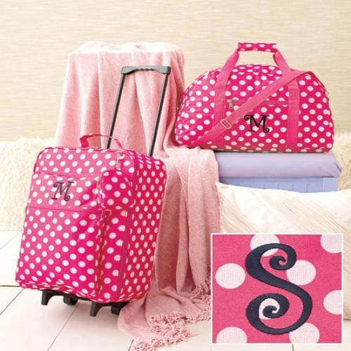 3-Pc. Girls' Monogram Luggage Sets-S