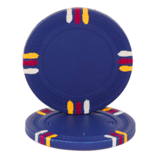 Dark Blue Blank Claysmith 12 Stripe Poker Chip - 13.5grams