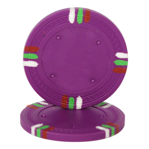 Purple Blank Claysmith 12 Stripe Poker Chip - 13.5grams