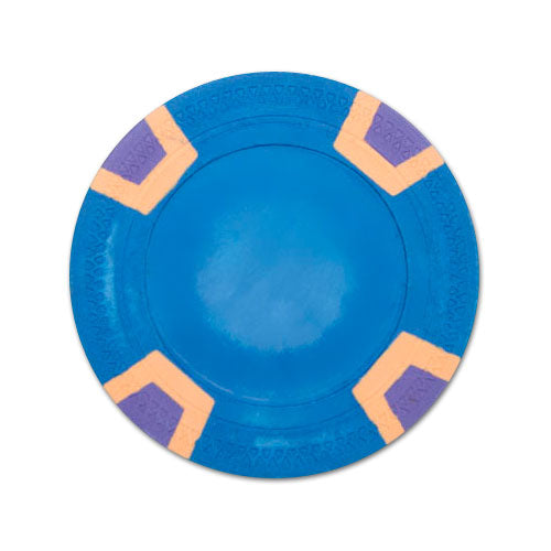 Blue Blank Claysmith Double Trapezoid Poker Chip - 10g