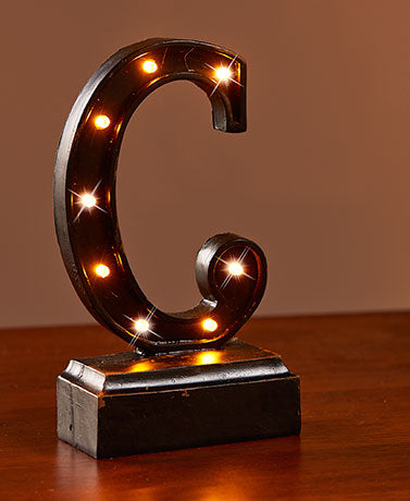 "Lighted Monogram ""C"" Plaques"