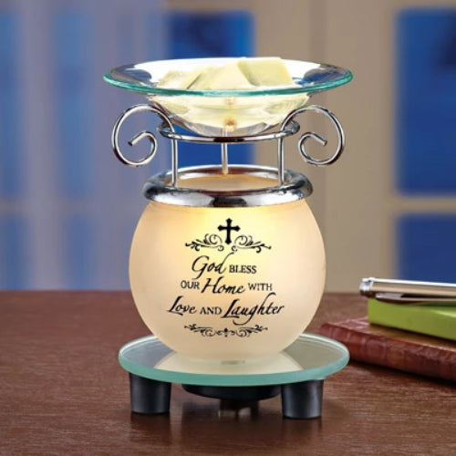 God Bless our Home Lighted Wax Warmer