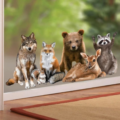 Northwoods Forest Animals Window Cling