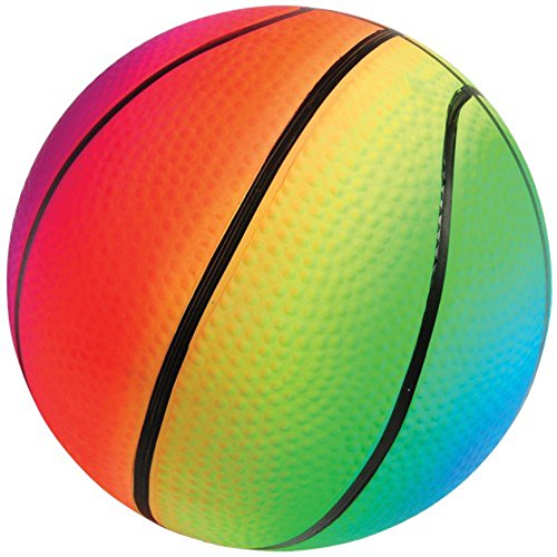 Lot Of 12 Rainbow Theme Basketball Design Playground Kickballs