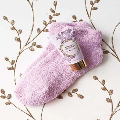 Cozy Sock and Lotion Gift-Boxed Sets-French Lavender