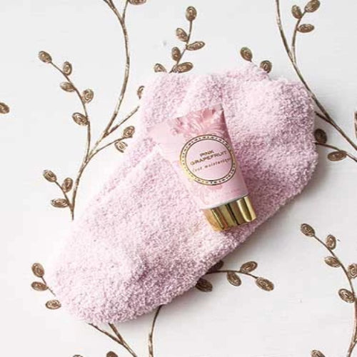 Cozy Sock and Lotion Gift-Boxed Sets-Pink Grapefruit