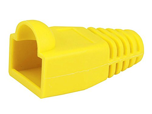 Monoprice [50pcs] RJ-45 Color Coded Strain Relief Boots - Yellow