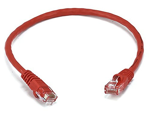 Monoprice 1FT 24AWG Cat6 550MHz UTP Ethernet Bare Copper Network Cable - Red