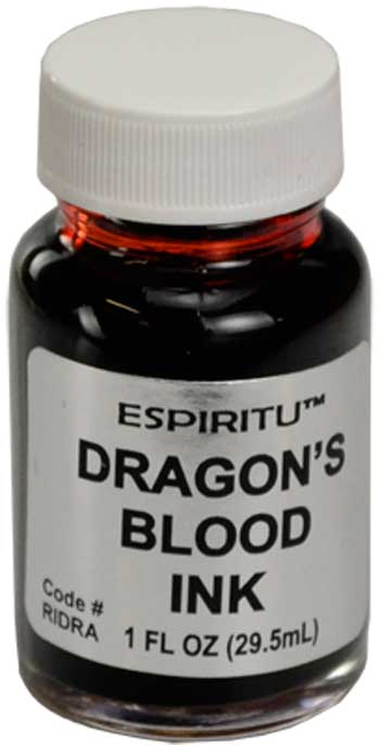 Magical Supplies Dragon's Blood Power Ink For Spell Writing And Casting 1oz Bottle