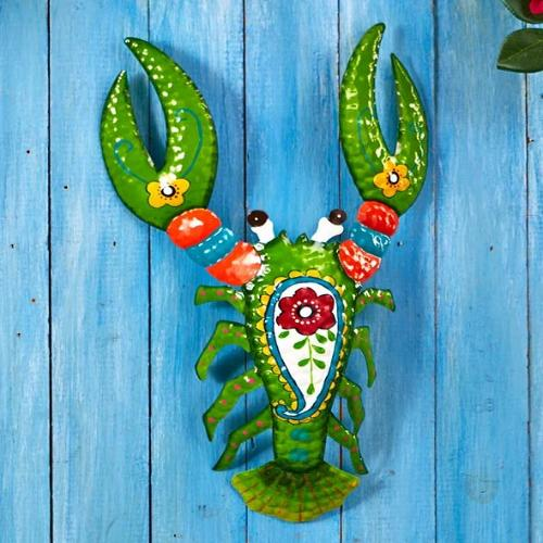 Tropical Metal Wall Sculptures-Lobster