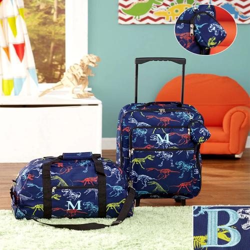 The  3pc Boys Monogram Luggage Sets B