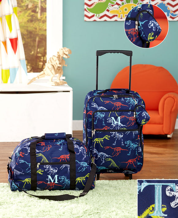 3pc Boys Monogram Luggage Sets