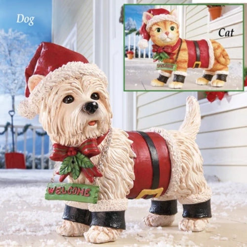 Motion Sensor Pet Christmas Yard Decoration, Cat