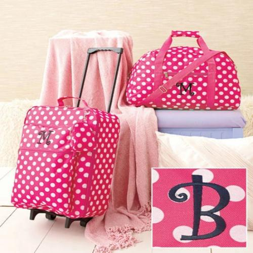 3-Pc. Girls' Monogram Luggage Set B