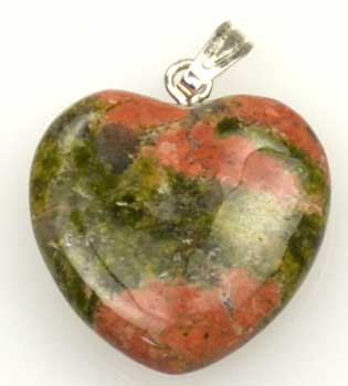 "RBI Fortune Telling Toys Spiritual Supplies 3 4"" (20mm) Unakite Heart"