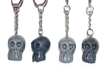 "RBI Fortune Telling Toys Spiritual Supplies 1"" resin Skull key ring (assorted colors)"