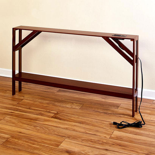 The  Skinny Sofa Table with Outlet - Walnut