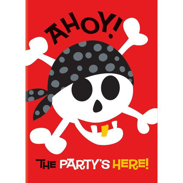 Unique Industries Pirate Birthday Invitations (8-Pack) - Party Supplies