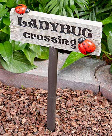 Ladybug Garden Decor ( Crossing Sign )