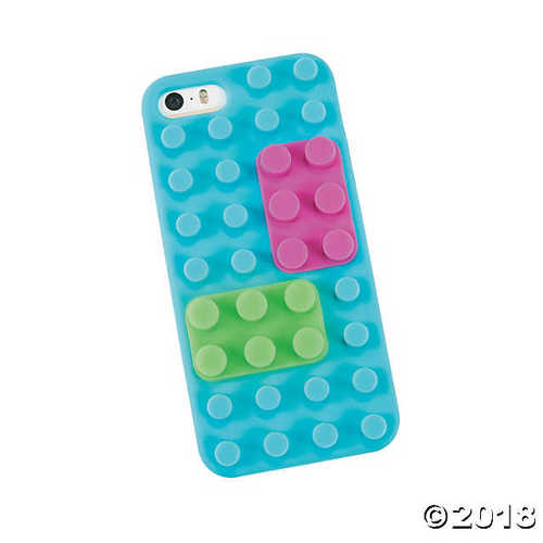 Silicone Brick Pieces for iPhone