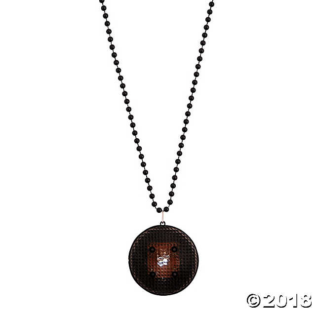 Black Beaded Light-Up Necklaces