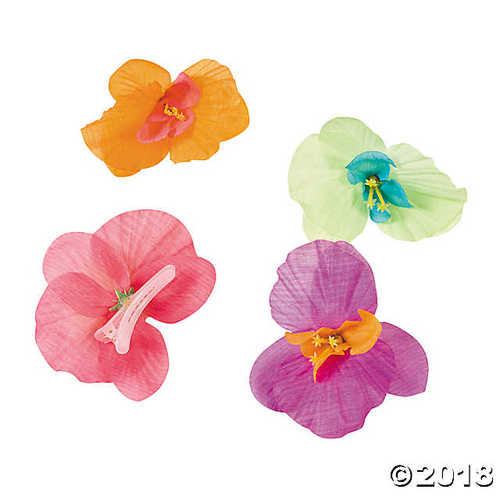 Polyester Orchid Hair Clips