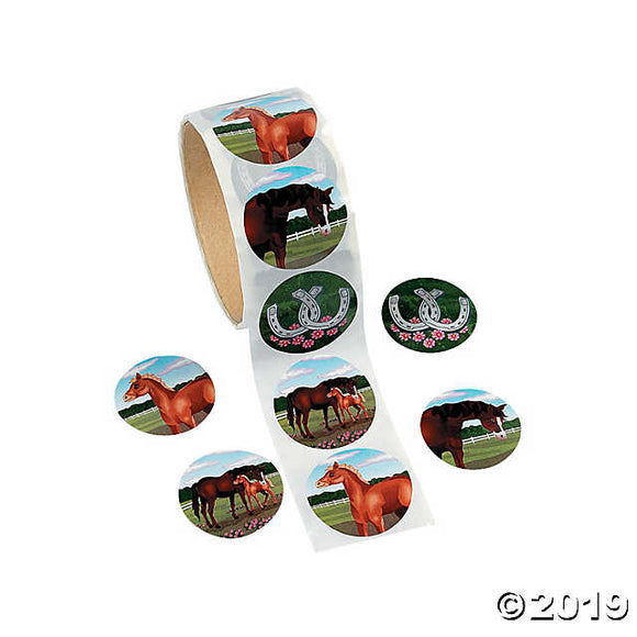 Horse Party Sticker Rolls