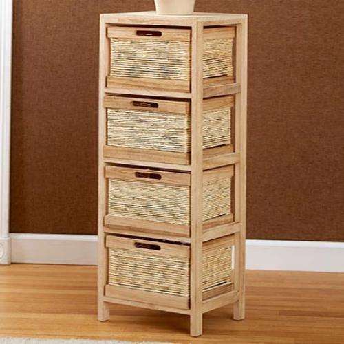 The  Rope Accent Storage Tower- Natural