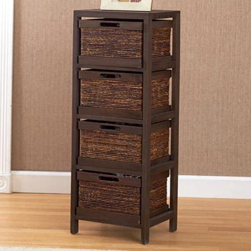 The  Rope Accent Storage Tower- Walnut