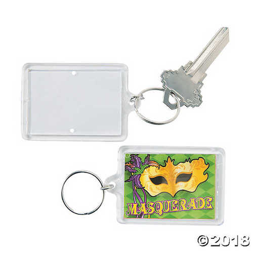 Masquerade Theme Picture Frame Keychains