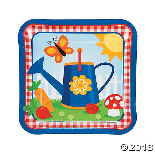 Garden Birthday Party Paper Dinner Plates
