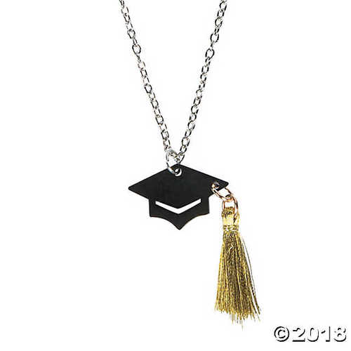 Graduation Hat With Tassel Necklace