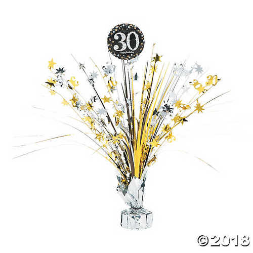 Sparkling Celebration 30th Birthday Centerpiece
