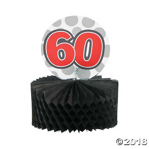 Mini 60th Birthday Centerpieces