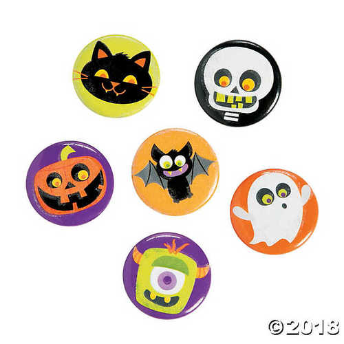 Glow-in-the-Dark Halloween Mini Buttons