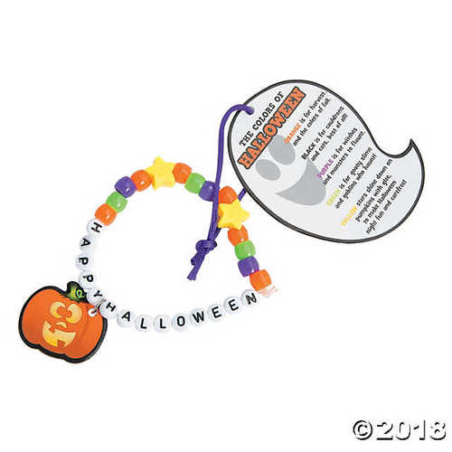 Happy Halloween Pony Bead Bracelet Craft Kit