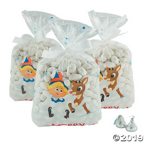 Rudolph the Red-Nosed Reindeer® Christmas Cellophane Bags